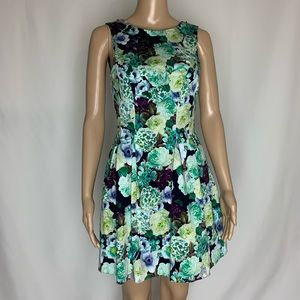 Miss Selfridge Mini Floral Dress W/ V Back Detail